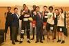 3人制プロバスケチームKARATSU LEO BLACKS、LEO NINERSが来庁