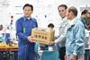 災害対応の慰労のため佐賀県有明海漁業協同組合が来庁